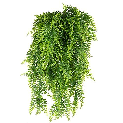 XHXSTORE 3pcs Planta Colgante Artificial Decoracion 80cm Enredadera Plastico Hiedra Helecho Artificial Colgante para Exterior Interior Balcon Terraza Cocina Baño Maceta Jardinera Boda Fiesta Verde