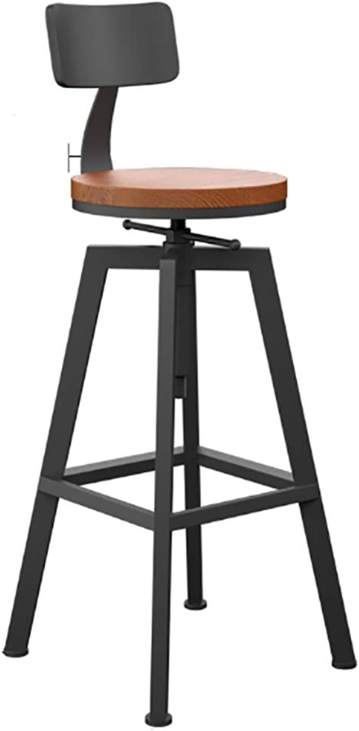 Retro Bar Stool redating Kitchen Bar Metal High Stool Industrial Style Breakfast Dining Table Stool (Size   B)