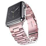 Watchband Bracelet en Acier Inoxydable pour Apple Watch 42Mm 38Mm 1/2/3/4 Bracelet en Métal...