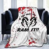 If You Can`T Dodge It Ram It Ultra-Soft Micro Fleece Blanket Woolen Woollen Blanket Living Room for Mans/Womens 50x40in 60x50in 80x60in