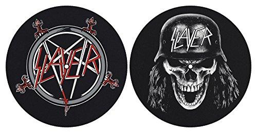 Slayer \'Pentagramm\' Plattenspieler Slipmat Set (