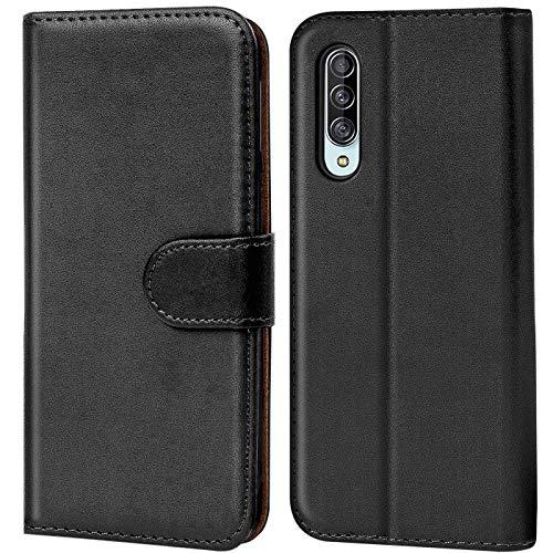 Verco Galaxy A90 5G Hülle, Handyhülle für Samsung Galaxy A90 5G Tasche PU Leder Flip Hülle Brieftasche - Schwarz
