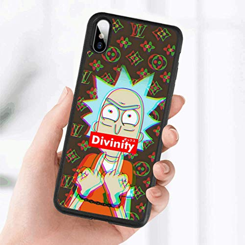 Divinity Box Rick Phone Case Rubber Gel Slim Defender Cover for iPhone 11 Pro Xs Max XR X 8 7 6s 5 Plus SE,Galaxy S10 S10+ S9 S9+ S8 S8+ S7 Edge Plus Note 8 (Galaxy S10)