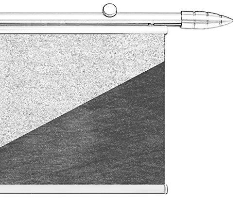 Tilldekor Beschwerungsleiste aus Aluminium für Flächenvorhänge, weiß, mit patentierter Klemmtechnik, 60 cm