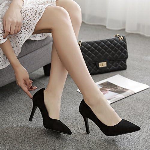 Xue Qiqi 5cm High heels girl avec embout noir élégant satin interview les emplois offrent peu de lumière de l'unique service de 7cm,35, 9cm noir