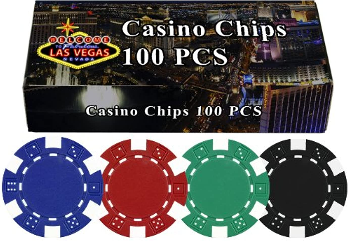 Da Vinci 100 11.5 Gram Poker Chips in Las Vegas Gift Box