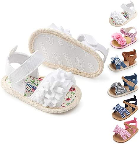Miamooi Infant Baby Girls Boys Sandals Summer Bowknot Crib Shoes Toddler Pu Leather Flower Soft product image