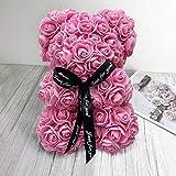 shian Flor Artificial en Forma de Oso jabón Rosa 25 cm Amigos decoración del hogar