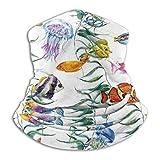 Pasamontañas Undersea Creature4 Face Cover Scarf Neck Warmer Multifunctional Headband Sports Pasamontañas Mouth Cover