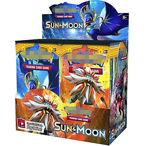 Caja de presentación de 360 unidades, compatible con Pokemon, juegos de cartas dedicados de anime, cajas de dibujos animados, tarjetas de batalla de regalo para los fanáticos del anime de los niños