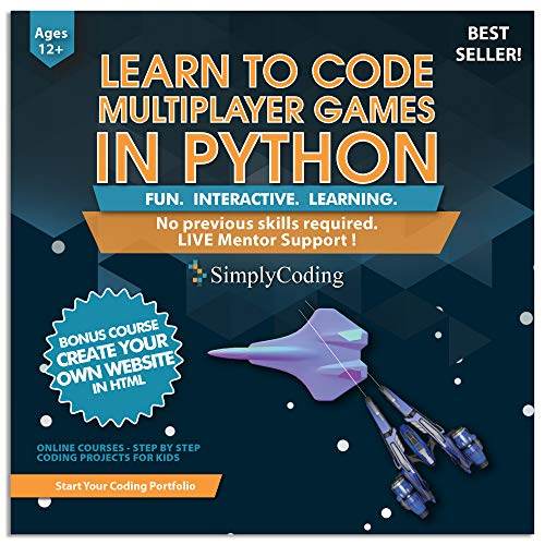 Coding for Kids: Learn to Code Python Multiplayer Adventure Games - Video Game Design Coding Software - Computer Programming for Kids, Ages 12-18, (PC, Mac Compatible)