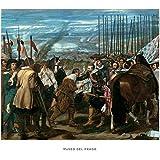 Lámina del Museo del Prado 'La rendición de Breda-Velázquez'