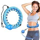 Enfourclass Aro de hula hoop Smart rosa para adultos para pérdida de peso, no se deshilacha, 24 aros de hula articulados rosados para pérdida de peso y ajuste físico (azul)