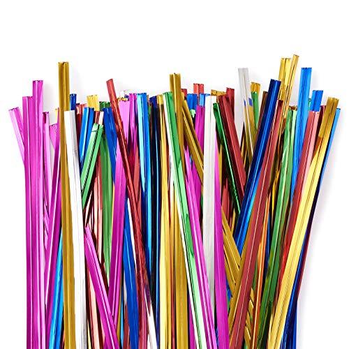 Cheriswelry 2400 lazos de color metálicos, organizador de cables de plástico para...