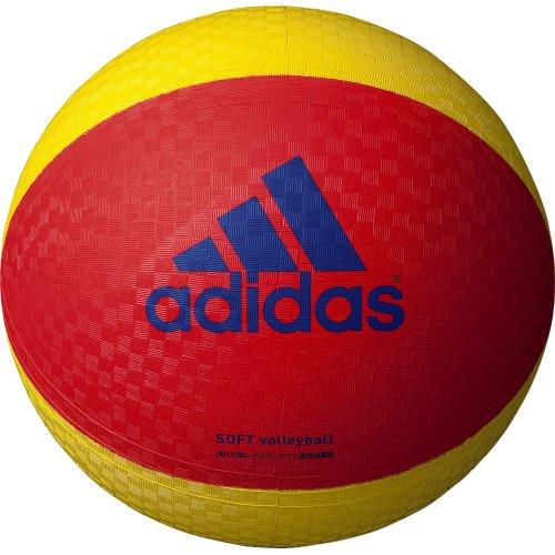 adidas(アディダス) ソフトバレーボール AVSRY 赤×黄