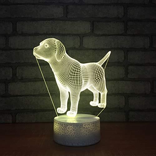 Cute Puppy Dog 3D LED Night Light USB Lámpara de mesa Kids Birthday Gift Mesita de noche decoración del hogar