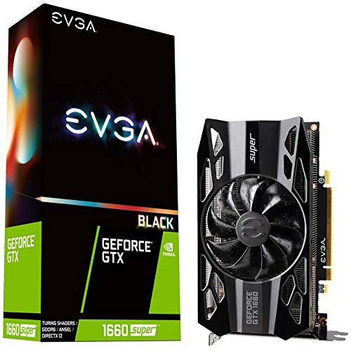 EVGA GeForce GTX 1660 SUPER BLACK GAMING, 06G-P4-1061-KR, 6GB GDDR6