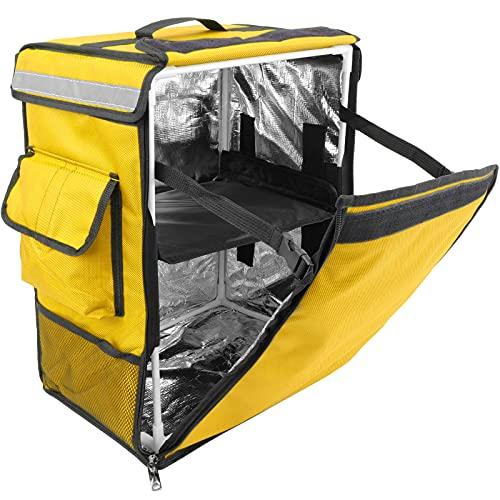 CityBAG - Mochila isotérmica 35 x 49 x 25 cm Amarilla para Comidas al Aire Libre y Entrega de Pedidos de Comida en Moto o Bicicleta ⭐