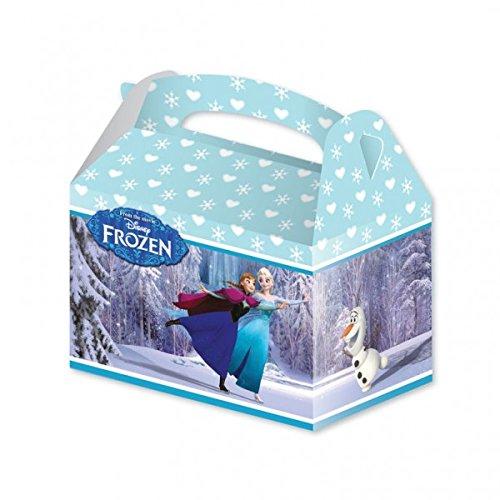 Amscan International 999272, Cajas de cartón con La reina de hielo, Azul, 15 x 10 x 17 cm, Paquete de 4