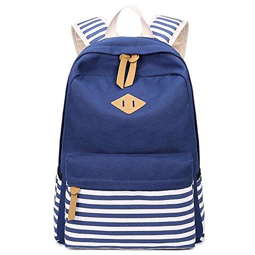 Artone Banda Grande Capacità Zaino Casual 15' Il Computer Portatile Scuola Daypack Profondo Blu