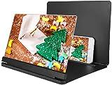 Amplificador de Pantalla Aumento 6X, Pantalla de teléfono Celular de 12 Pulgadas Lupa Lupa de teléfono móvil Pantalla de proyector para películas, Videos, Juegos