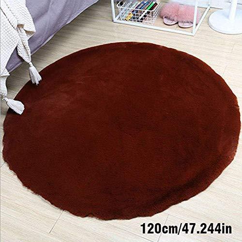 zvcv Alfombras, alfombras, alfombras Redondas para Interiores, Alfombrillas Antideslizantes de Felpa Alfombrillas para atrapar Suciedad Disponibles en una Variedad de tamaños, Blanco/marrón
