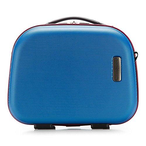 WITTCHEN Unisex-Erwachsene Kosmetikkoffer Henkeltasche Blau (Blau)