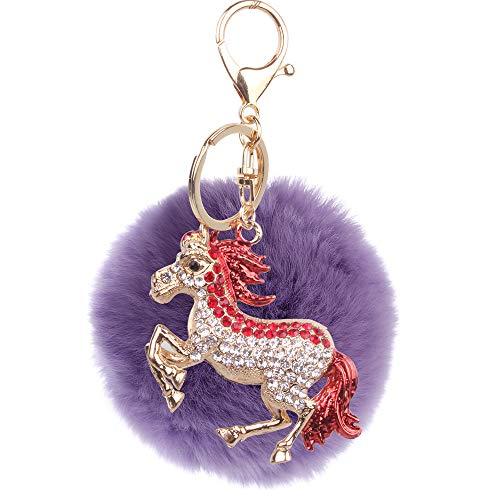 Moda8 CmFelpa Linda Pony Lady Llavero Bolsa De Coche...