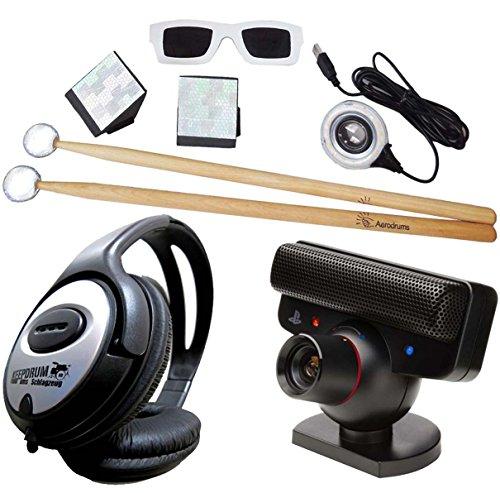 Aerodrums Air-Drumming Schlagzeug E-Drum mit PS3 Kamera + keepdrum Stereo-Kopfhörer