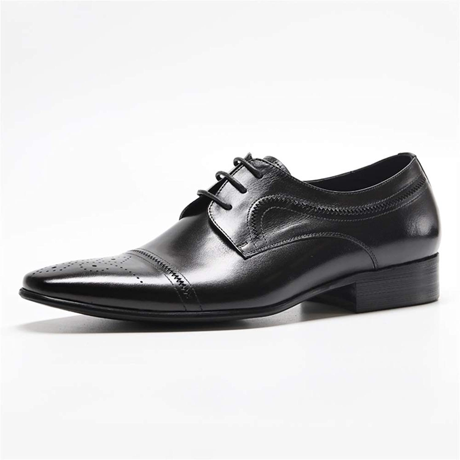 Men's Business Leather shoes Men Comfortable Classic Modern Dress shoes Men Pointed Lace-up shoes