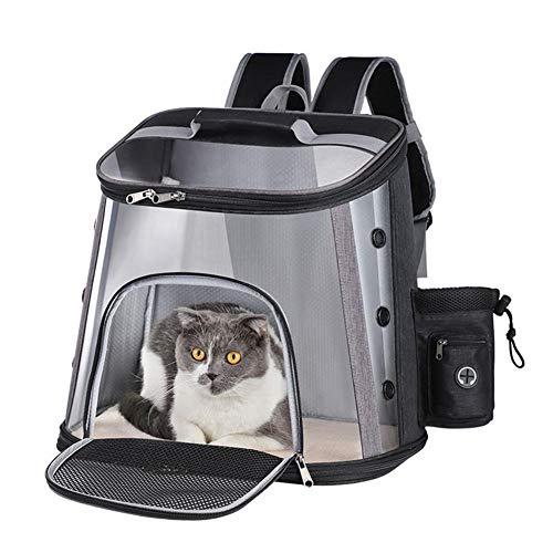 3°Amy Mochila para mascotas Bolso del perro gato mascota transpirable perro Mochila de gran capacidad de transporte del gato bolsa de viaje portátil al aire libre del animal doméstico del M L Tamaño #