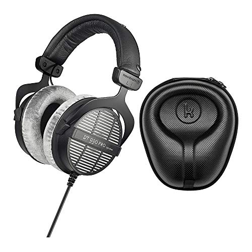 beyerdynamic DT-990 Pro Acoustically Open Headphones (250 Ohms) with Knox Gear Large Hard Shell Headphone Case Bundle (2 Items)
