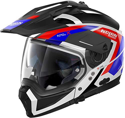 Nolan N70-2 X Grandes Alpes N-Com Helm Schwarz/Rot/Blau XXL (64)