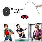 Ping Pong Table Tennis Trainer Equipo De Entrenamiento Kit con Elástico Eje Suave, Vision Training Altura Ajustable 2 Pcs Elastic Rod, para Deportes de Descompresión para Adultos Y Niños