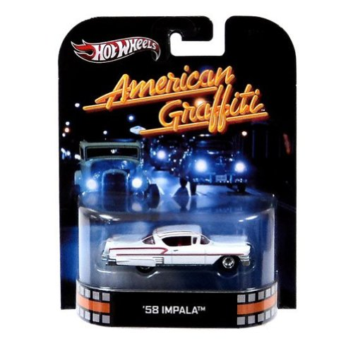 Hot Wheels Retro American Graffiti 1:55 Die Cast Car \'58 Impala