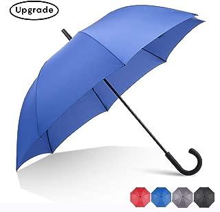 RUMBRELLA Royal Blue Hook Handle Umbrella Windproof, j Umbrellas Auto Open 54IN