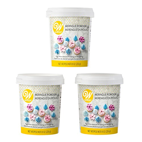 Wilton 8 oz. Meringue Powder Egg White Substitute, 3-Pack