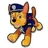 Ecusson - Paw Patrol La Pat' Patrouille Chase - bleu - 7,2x5,6cm - Aussi auto-adhésif © Spin Master patches brode appliques embroidery thermocollant