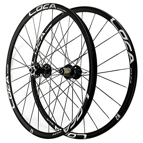 ZCXBHD Bicicleta de montaña Rueda Delantera y Trasera Rueda rápida 26/27.5/29 Pulgadas Ultralight Aleación MTB Llantas Ruedas de Ciclismo Freno de Disco MTB Wheelset 8 9 10 11 12 Velocidad