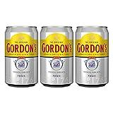 Gordons London Dry Gin & Tonic 731451 - Juego de 3 Botes de Sueco, Alcohol, Bebida alcohólica, Bebida Mixta, Lata desechable, 10%, Incluye envase de 0,25 DPG, 330 ml