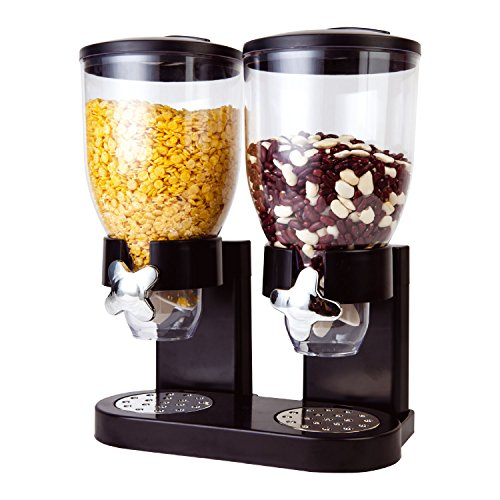 Taylor & Brown® Double Plastic Classic Dry Food Cereal Dispenser Double...