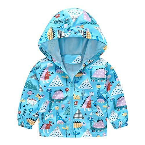 Toddler Girl Clothes Fall/Winter, Hoodie Jacket Coat Newborn Boy Infant Windbreaker Lightweight Cute Print Outwear Zip Up Spring Baby Clothes Boy Newborn
