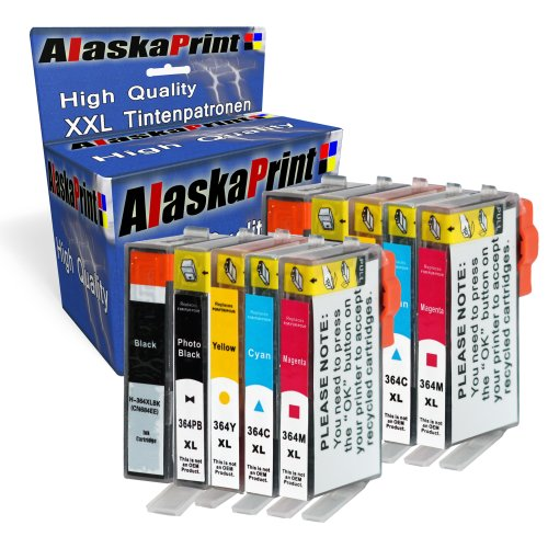 Alaska 10 Druckerpatronen kompatibel mit HP 364XL 364 XL mit Photosmart 5510 5511 5512 5514 5515 5520 5522 5524 6510 6520 6512 6515 (2 Schwarz 2 Photoblack 2 Cyan 2 Magenta 2 Yellow)