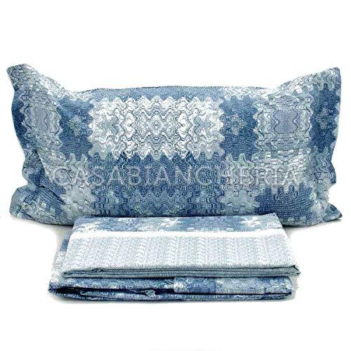 COGAL® flanellen beddengoedset voor tweepersoonsbed, warm, uit katoen, verkrijgbaar in verschillende kleuren, materiaal 100% katoen, gefabriceerd in Italië
