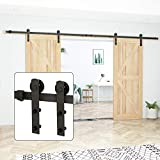 U-MAX 13 FT Heavy Duty Sturdy Sliding Barn Door Hardware Kit -Sliding Smoothly and Quietly -Easy to Install -Includes Step-by-Step Installation Instruction (J Shape)