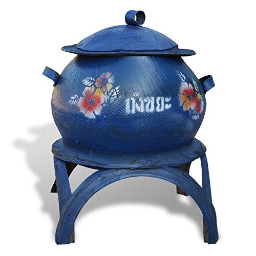 Wilai Magnifique Corbeille d'extérieur, Container Fait Main en Pneu recyclé, déco ou aménagement Jardin, déchets végétaux, Cache Pot, Rangement Divers (16014)
