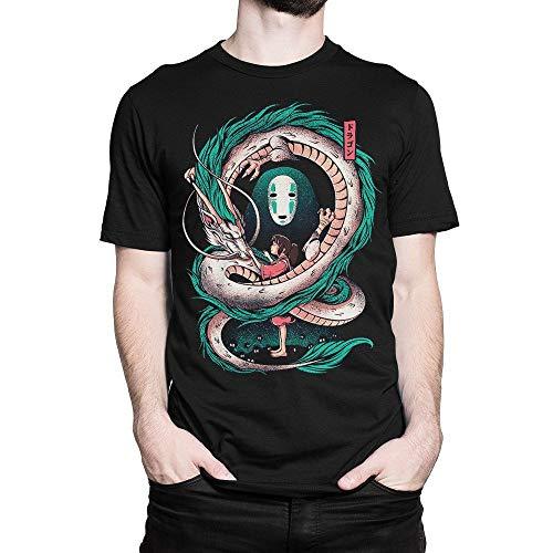 GNKJYY-T Camiseta Cute-Spirited- Away- Art, Camiseta Studio Ghibli para Hombre y Mujer