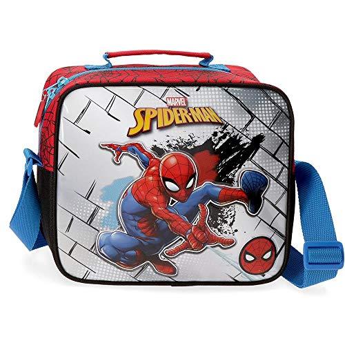 Marvel Spiderman Red Trousse de toilette adaptable à Trolley avec bandoulière Rouge 23x20x9 cms Polyester