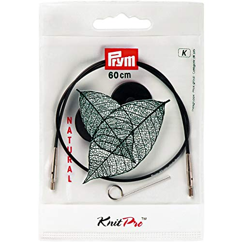 Prym 223980 Seil & Zubehör für Rundstricknadeln NATURAL 40 cm Rundstricknadel, Metall, mehrfarbig