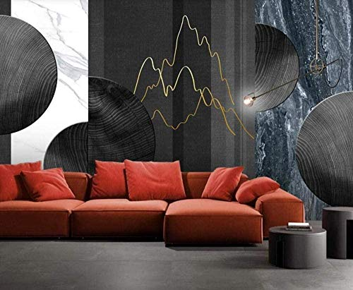 Mural Wallpaper Photo Poster Wall DecorationGolden Marble Wood Grain Stone lineBackground Wall Background Painting Panorama 3D Wall Mural Decor 300 * 450cm